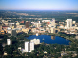 Aerial Skyline, Orlando, Florida Photographic Print by Bill Bachmann