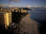 Honolulu Beach and Diamond Head, Oahu Hawaii Photographic Print by Randa Bishop