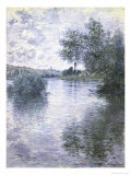 Le Seine a Vetheuil Giclee Print by Claude Monet