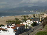 Beach Houses, Santa Monica State Beach Park, Santa Monica, Los Angeles, California Photographic Print by Walter Bibikow