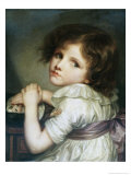 L'Enfant a La Poupee, a Child with a Doll Giclee Print by Jean-Baptiste Greuze