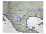 Gulf of Mexicoportolan Atlas Reproduction proc&#233;d&#233; gicl&#233;e par Battista Agnese