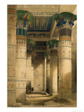 Under the Grand Portico, Philae Premium Giclee Print by David Roberts