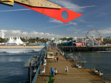 Santa Monica Pier, Santa Monica, Los Angeles, California Photographic Print by Walter Bibikow