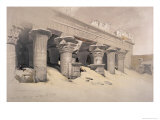 Portico of the Temple of Edfou, Egypt Lámina giclée por David Roberts
