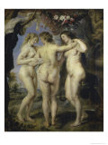 The Three Graces Giclee Print by Peter Paul Rubens