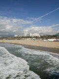Shorefront from Santa Monica Pier, Santa Monica, Los Angeles, California Photographic Print by Walter Bibikow