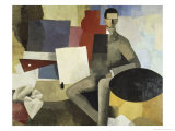 Man Seated Giclee Print by Roger de La Fresnaye