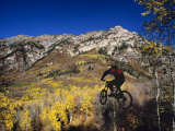 Mountain Biking in Fall, Uinta National Forest, Provo, Utah Photographic Print by Howie Garber