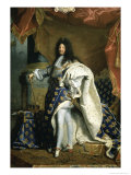 Louis XIV, King of France, c.1701 Giclee Print by Hyacinthe Rigaud