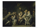 The Paternal Curse, 18th century Giclee Print by Jean-Baptiste Greuze