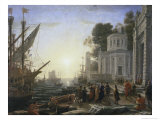 Arrival of Cleopatra Giclee Print by Claude Lorrain
