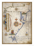 Mar Oceano, Portolan Atlas Illumination Giclee Print by Sebastiano Lopes