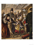 Greeting at the Train Station Giclee Print by A. Kronheim