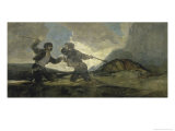 Fight with Cudgels Reproduction procédé giclée par Francisco de Goya