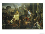 Alexander's Entrance Into Babylon Giclee Print by Charles Le Brun