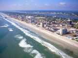 Beach Aerial, Daytona Beach, Florida Photographic Print by Bill Bachmann