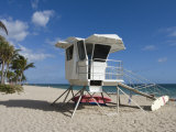 Fort Lauderdale Beach and Life Guard Shack, Fort Lauderdale, Florida Photographic Print by Walter Bibikow