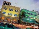 Art Deco Architecture and Palms, South Beach, Miami, Florida Fotografie-Druck von Robin Hill