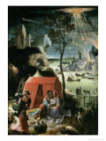 Lot and His Daughters, 17th century Giclee Print by Lucas Van Leyden