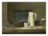 Smoking Kit with a Drinking Pot Giclee Print by Jean-Baptiste Simeon Chardin