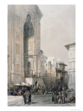 Grand Entrance to the Mosque of the Sultan Hassan Premium Giclee Print by David Roberts