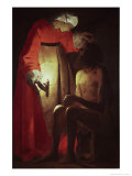 Job Visited by His Wife, 17th century Giclee Print by Georges de La Tour
