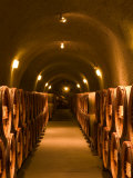 Pine Ridge Winery Cask Room, Yountville, Napa Valley, California Photographic Print by Walter Bibikow