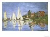 Regates a Argenteuil Giclee Print by Claude Monet