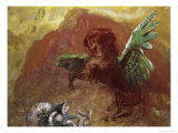 Pegasus and Hydra Giclee Print by Odilon Redon