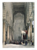 Interior of the Mosque of the Metwalys Giclee Print by David Roberts
