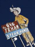 Famous Big Texan Steakhouse, Amarillo, Texas Photographic Print by Walter Bibikow
