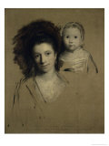 Study of Giorgina and Her Daughter, c.1759 Giclee Print by Joshua Reynolds