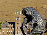 Grizzly Bear Statue at University of Montana, Missoula, Montana Photographic Print by Chuck Haney