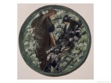 Witches Tree, Nimue Beguiling Merlin with Enchantment Premium Giclee Print by Edward Burne-Jones