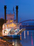 Paddlewheel Riverboat Julia Belle Swain on the Mississippi River, La Crosse, Wisconsin Photographic Print by Walter Bibikow