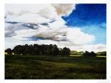 Late Summer Landscape in N. Alabama Premium Giclee Print by Helen J. Vaughn