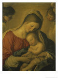 Madonna with the Infant Jesus Sleeping, 17th century Giclee Print by  Giovanni Battista Salvi da Sassoferrato