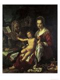 Holy Family, 16th century Giclée-tryk af Agnolo Bronzino
