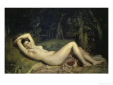 Nymphe Endormie Giclee Print by Theodore Chasseriau