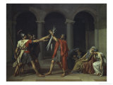 Oath of the Horat Giclee Print by Jacques-Louis David