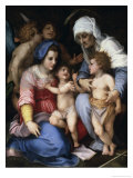 The Holy Family with Angels, c.1515-16 Giclee Print by  Andrea del Sarto
