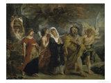 Copie d'Apres, La Fuite de Lot, de Rubens Giclee Print by Eugene Delacroix