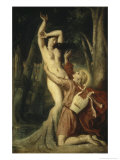 Apollon et Daphne Giclee Print by Theodore Chasseriau