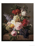 Flowers and Fruit, c.1827 Giclée-Druck von Jan Frans van Dael