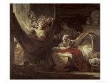 Cradle, c.1780 Reproduction procédé giclée par Jean-Honoré Fragonard
