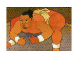 Sumo Wrestler Giclee Print by John Newcomb
