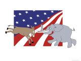 Politcal Battle Giclee Print by Linda Braucht