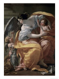Allegory of Wealthlate, 17th century Giclée-Druck von Simon Vouet