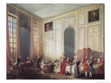 Tea at the Temple in the Salon of Four Mirrors in Prince Conti's Home Giclee Print by Michel Barthélémy Ollivier